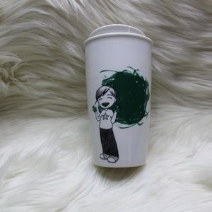 Starbucks Kid Painting Ceramic Tumbler 12 oz.